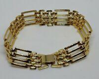 Vintage Gold Plated Gate Bracelet