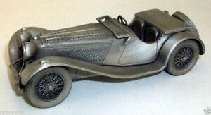 DANBURY MINT - DMP3 PEWTER MODEL 1939 JAGUAR SS100 3 1/4 LITRE