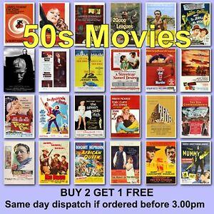 Poster Vintage Movie Posters 1950s 50s Film Poster Films HD Borderless Printing