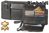 Rimbaldi® Handgelenktasche und Umhängetasche in einem aus naturbelassenem Leder