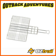 OZTRAIL JUMBO GRILL BASKET - CAMPING CAMP COOK FOOD BBQ BEACH PICNIC FIRE