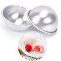 Molde de bola Pastel Bomba Baño Esfera Aluminio 3D Pastelería de Estaño Coc*ws