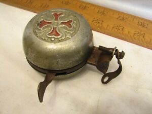 Vintage Bicycle Handlebar Bell Accessory Ringer Maltese Cross Motorcycle