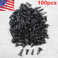100 Pcs Black Push-Type Fastener Rivet Retainer Clips Ref 52161-02020 For Toyota