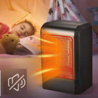 Space Portable Ceramic Electric Heater Adjustable Thermostat Timer Quiet Fan