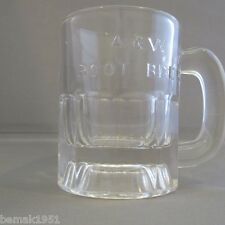 "Vintage A & W Mini Root Beer Mug Raised Letters 3 1/4"" tall 3 ounce"