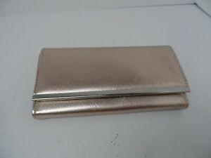 Women's  Rose Gold Faux Leather Tri-Fold Wallet 7.5 x 4