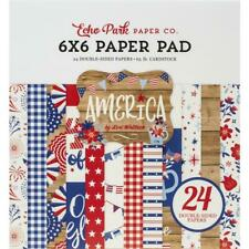 USA AMERICA Collection Scrapbooking 6x6 IN Paper Pad 24 Sheet Echo Park NEW