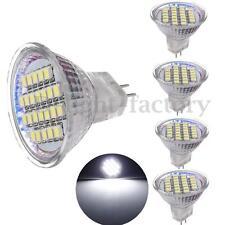 5X MR11 GU4 Pure White 24 LED 3528 SMD Spot Light Spotlight Lamp Bulb 12V