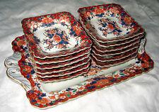 Seiji Kaisha 1879-83 Arita Porcelain Estate Rare Dessert Service Hand Signed Set