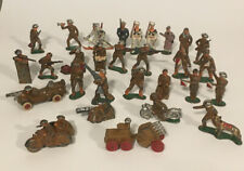Vintage Barclay Manoil Toy Soldiers Lead lot of 29 Rare Motorcycle Tractor Skis
