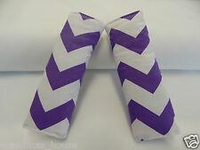 Baby Seat Belt Strap Covers Highchair Stroller- Purple Chevron 100% Cotton