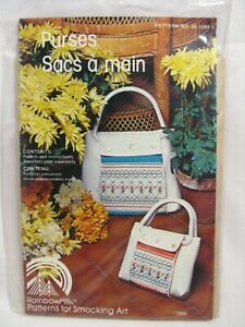 Ladys and Childs Purse Pattern Rainbow Hill Patterns for Smocking Art 25-1280