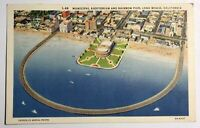 Long Beach California Municipal Auditorium And Rainbow Pier CA Postcard Sky View