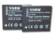 2x BATTERIE pour Panasonic Lumix DMC-FS10 / DMC-FS12 / DMC-FS15
