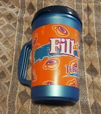 20oz Aladdin Insulated Coffee Cups Mugs Plastic Vintage / LID(Not Perfect) blue