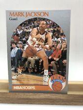 1990-91 NBA Hoops #205 Mark Jackson + Menendez Brothers in background. Knicks
