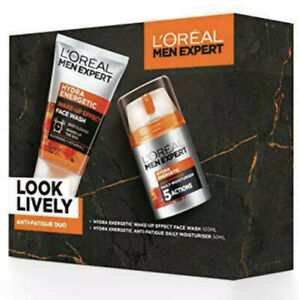L'Oreal Paris Men Expert Gift Set for Men,Wash and Moisturiser Anti-Fatigue Skin