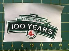 """Boston Red Sox Fenway Park 100 years logo anniversary MLB Patch 5.5"""""""