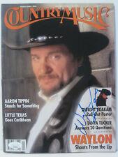 Country Music Magazine signed by Waylon Jennings