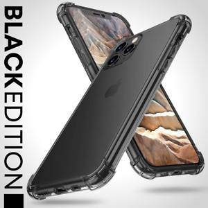 BLACK Case For iPhone SE 2 11 Pro Max XR XS X 8 7 Plus Shockproof Silicone Cover