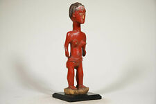 "Female Baule Colonial Figure 16"" on Base - Ivory Coast - African Art"