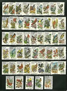 US 1953-2002 State Birds& Flowers complete  set of 50 used  singles 1981 RARE