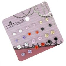 Color Cubic Zirconia Crystal Magnetic Stud Clip on Earrings for Girls Women Men 4mm & 5mm