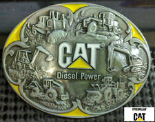Caterpillar Tractor Loader Belt Buckle Metal Silver Finish US SELLER AND SHIPPER