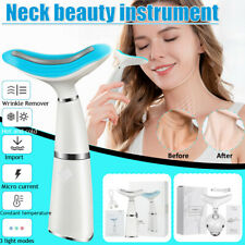 Led Photon Therapy Neck Vibration Massager Safe Face Lifting Tool