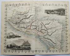 CENTRAL AMERICA (HONDURAS, NICARAGUA), FINELY ENGRAVED TALLIS / RAPKIN MAP, 1851