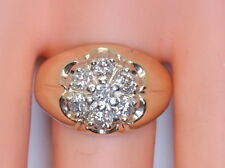 NICE Men's 10K Yellow Gold .70 Ct RB Diamond Cluster Ring Size 10.5