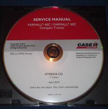 CUSTODIA FARMALL 40C 50C COMPACT TRACTOR SERVICE SHOP REPAIR BOOK MANUAL CD