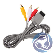 AV Audio Video A/V Stereo RCA Cable Cord for Nintendo Wii Wii U