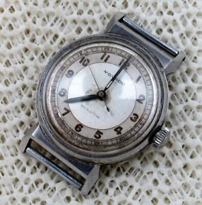 Movado Swiss Vintage Stainless Steel Project Fancy Wrist Watch. Spare Or Parts