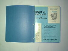 Original Kohler Engine Model K241 Parts Spec & Service Manuals Dated 1-1965