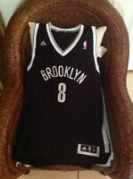 80d5e5d29 DERON WILLIAMS  8 BROOKLYN NETS NBA ADIDAS SWINGMAN JERSEY Size XL Lenght+2  Men