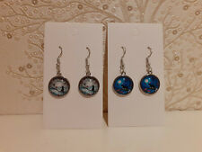 Black Cat In Tree Dangle Drop Earrings Moonlight Fashion Birthday Present Gift