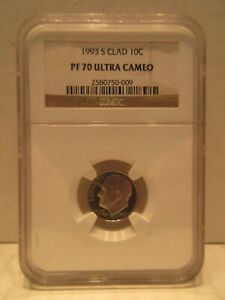 1993 S Clad Roosevelt Dime NGC Proof 70 Ultra Cameo 10 Cent