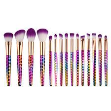 15Pcs Honeycomb Makeup Brushes Cosmetic Tool kit Eyeshadow Powder Brush set US