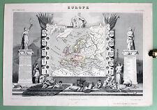 Atlas Universel Illustré - Maps 1845 LEVASSEUR Europe Asia America Afrique