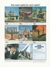 1961 Air France Airlines Captain Various Destination Prices PRINT AD