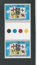 Australia # 779 Mnh Queen Elizabeth'S 55Th Birthday ( Gutter Pair )