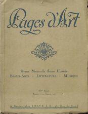 Pages d' Art n°1 - 1917 - Charles Girond  - Superbes publicités anciennes