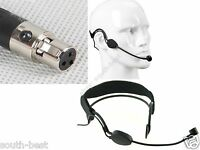 Black-earhook Headset Microphone For AKG Samson Wireless Mic System