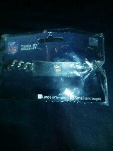"Vikings TEAM ID Bracelet New NFL Official Licensed 8.50"" Heavy Metal Men / Women"