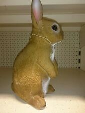 """thick latex mould mold of a large rabbit 8"""" tall"""