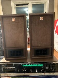Vintage Electra 2 ( Pair) Speakers Stereo Made In Japan Tested Working Great
