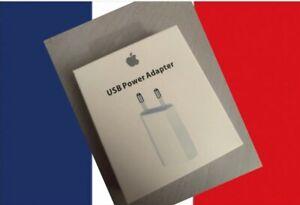 Chargeur Prise Apple Iphone Original Mural Bloc Prise Secteur USB 5W Avec Boîte
