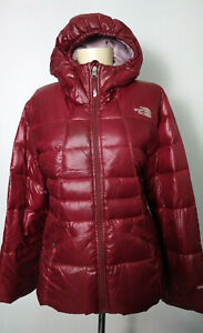 The North Face Maroon 550 Goose Down Hooded Puffer Jacket Girls Size XL